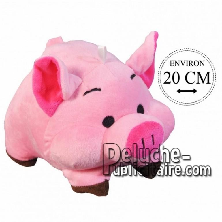 Achat peluche cochon boule rose 20cm. Peluche personnalisée.