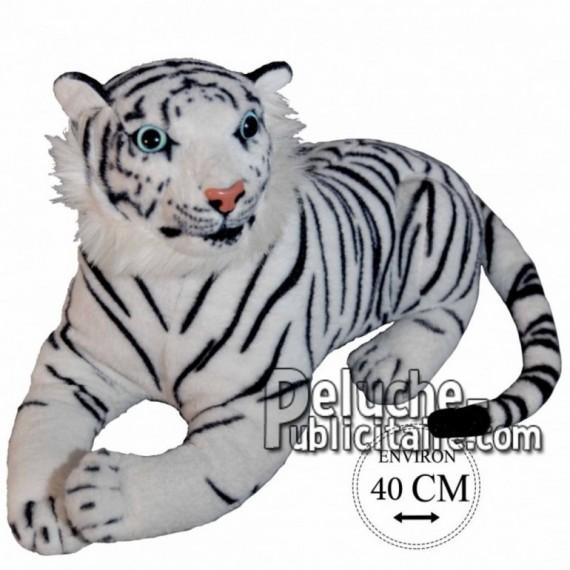 Achat peluche tigre noir 40cm. Peluche personnalisée.