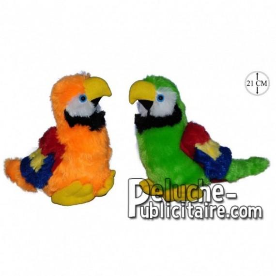 Achat peluche perroquets barioles vert 21cm. Peluche personnalisée.