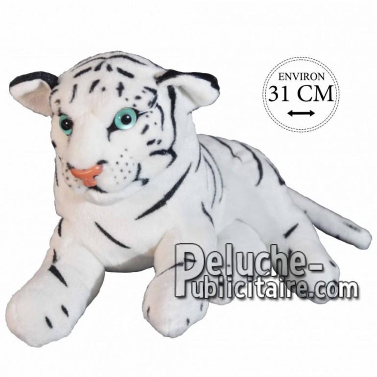 Achat peluche tigre blanc 31cm. Peluche personnalisée.