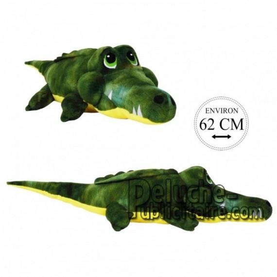 Achat peluche crocodile vert 62cm. Peluche personnalisée.