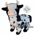 Achat peluche vache noir 28cm. Peluche personnalisée.