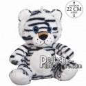 Achat peluche tigre assis noir 22cm. Peluche personnalisée.