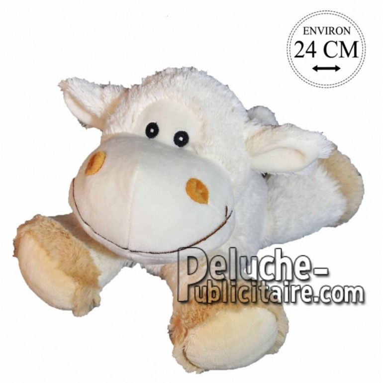 Achat peluche mouton doudou blanc 24cm. Peluche personnalisée.