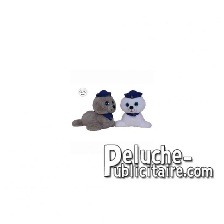 Achat peluche phoques gris 35cm. Peluche personnalisée.
