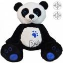 Achat peluche panda debout noir 67cm. Peluche personnalisée.