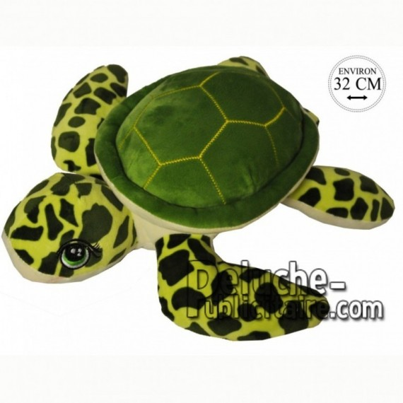 Achat peluche tortue de mer vert 32cm. Peluche personnalisée.