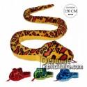 Achat peluche serpents multicolore 150cm. Peluche personnalisée.