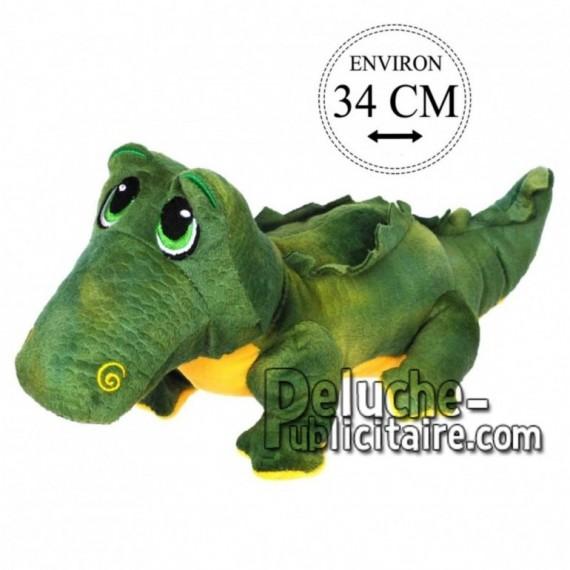Achat peluche crocodile sur pattes vert 34cm. Peluche personnalisée.
