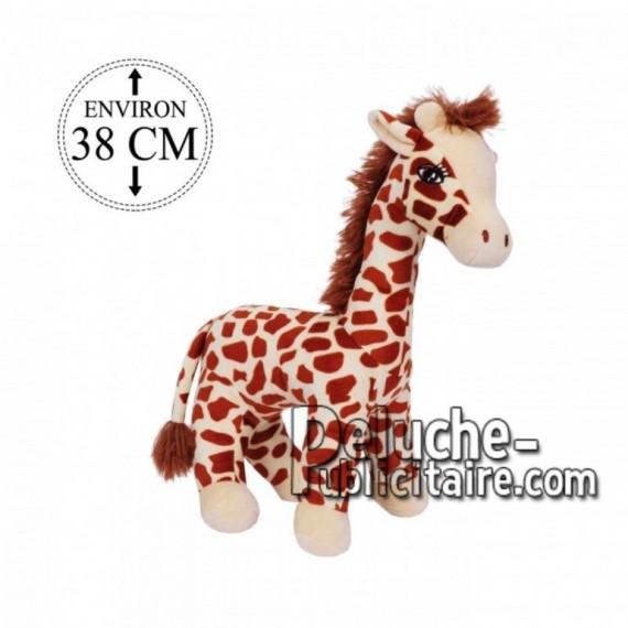 Achat peluche girafe sur pattes marron 38cm. Peluche personnalisée.