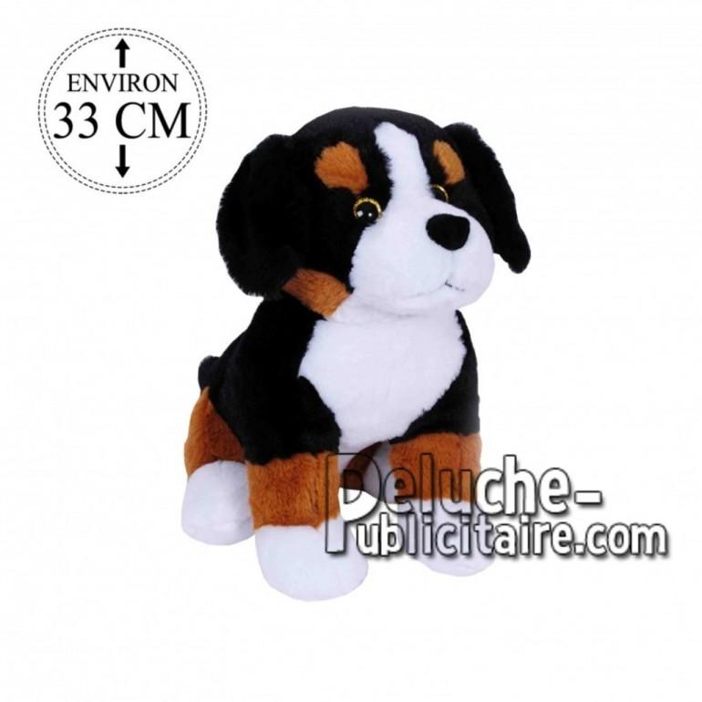 Achat peluche chien bouvier multicolore 33cm. Peluche personnalisée.