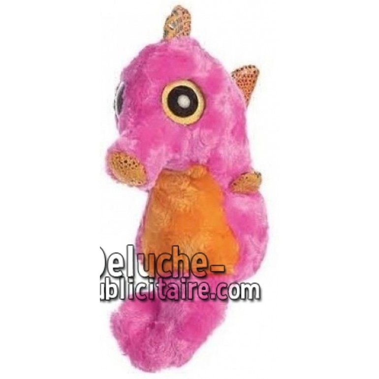 Achat peluche hippocampe rose 12