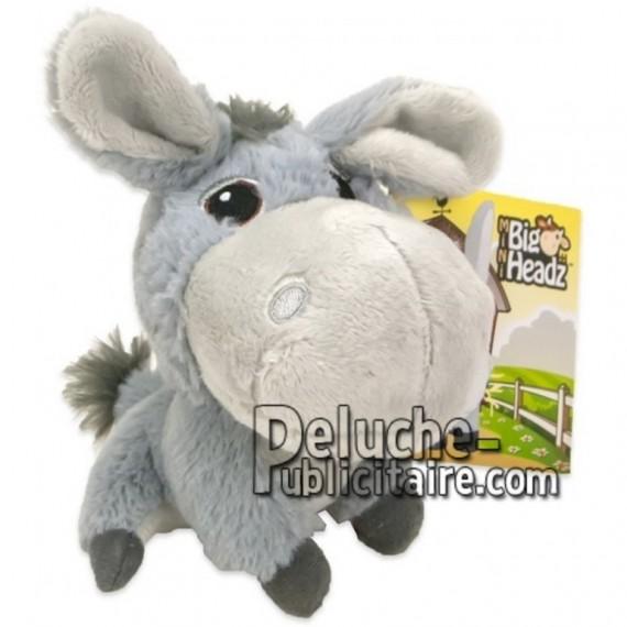 Achat peluche âne gris 11cm. Peluche personnalisée.
