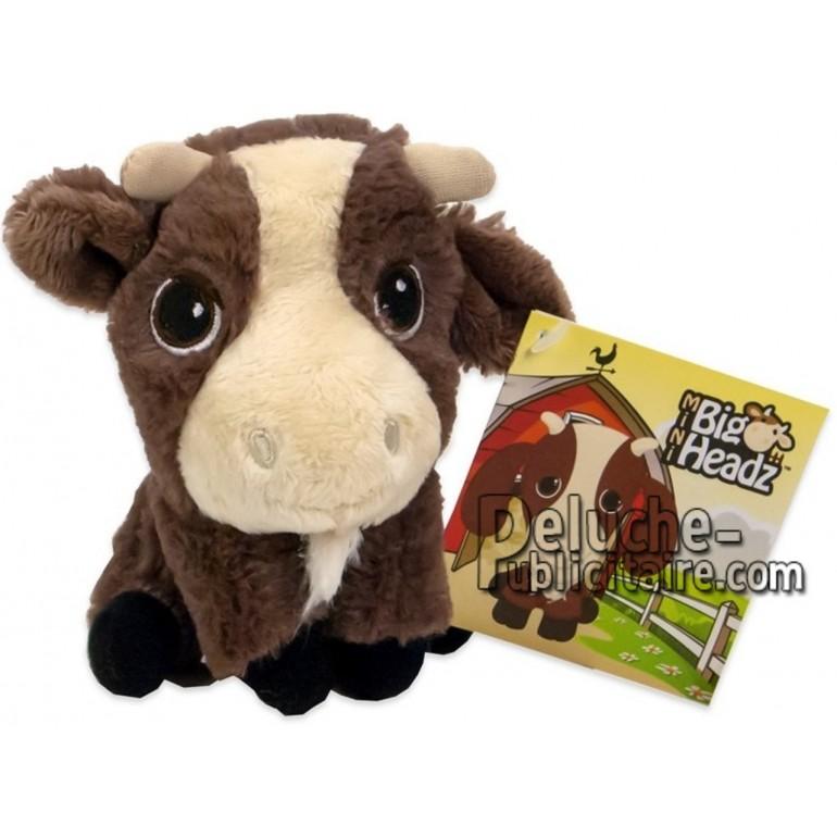 Achat peluche chèvre marron 11cm. Peluche personnalisée.