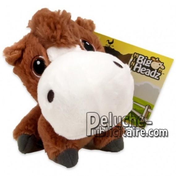Achat peluche cheval marron 11cm. Peluche personnalisée.