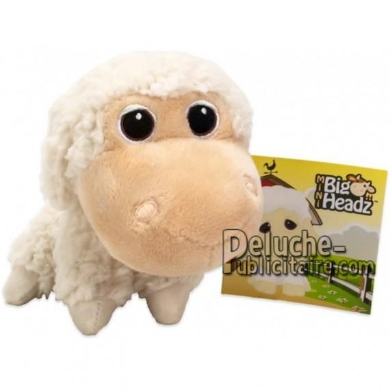 Achat peluche mouton blanc 11cm. Peluche personnalisée.