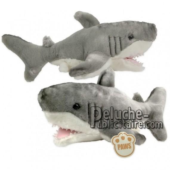 Achat peluche requin gris 25cm. Peluche personnalisée.
