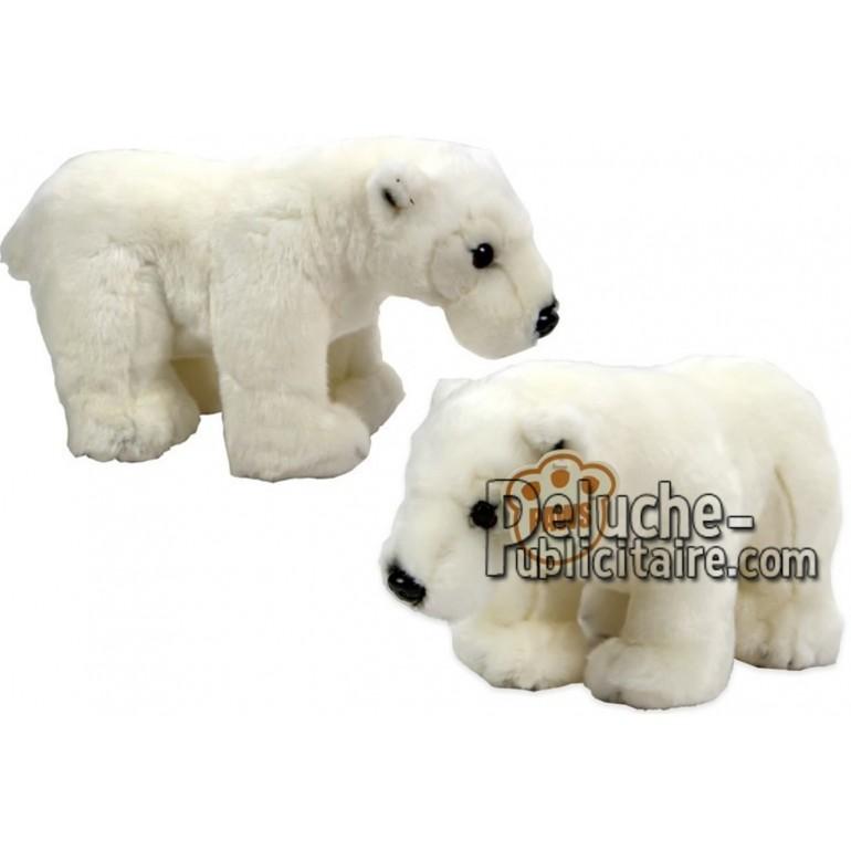 Achat peluche ours polaire blanc 25cm. Peluche personnalisée.