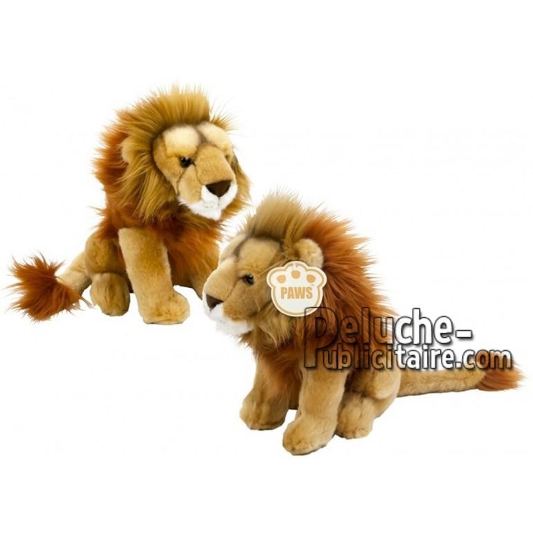 Achat peluche lion beige 25cm. Peluche personnalisée.