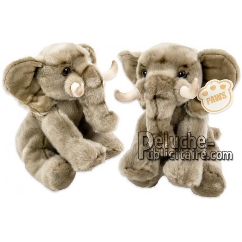 Achat peluche éléphant gris 25cm. Peluche personnalisée.