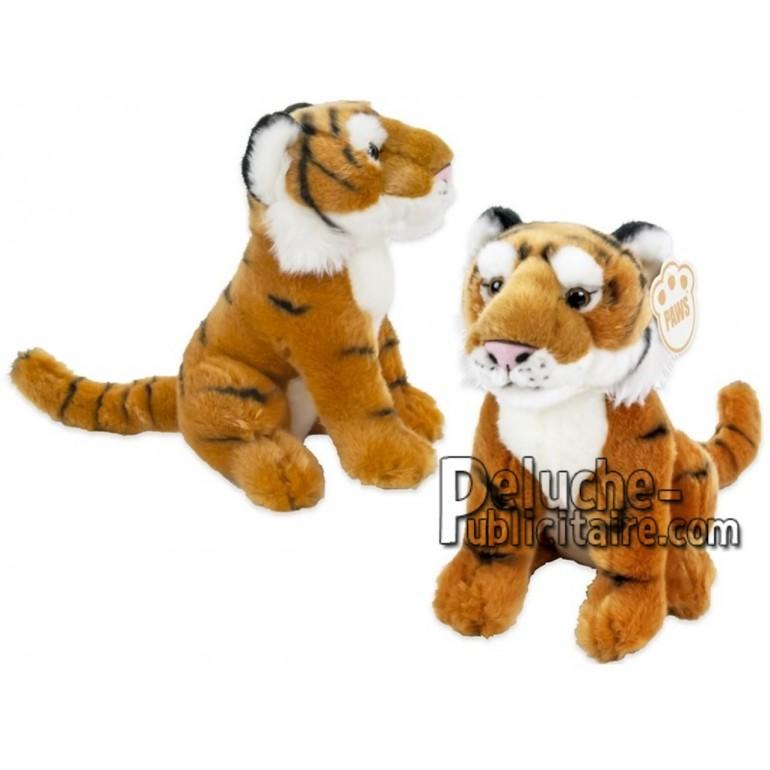 Achat peluche tigre orange 25cm. Peluche personnalisée.