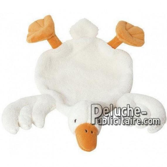 Achat peluche canard blanc 34cm. Peluche personnalisée.