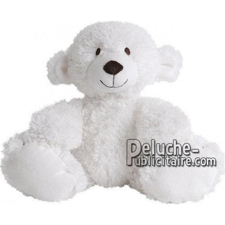 Achat peluche ours polaire blanc 21cm. Peluche personnalisée.