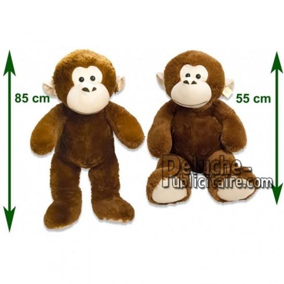 Achat peluche singe marron 85cm. Peluche personnalisée.