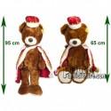 Achat peluche ours roi marron 95cm. Peluche personnalisée.