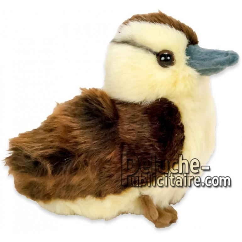 Achat peluche canard marron 18cm. Peluche personnalisée.