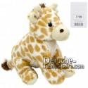 Achat peluche girafe blanc 27cm. Peluche personnalisée.