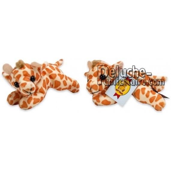 Achat peluche girafe blanc 13cm. Peluche personnalisée.