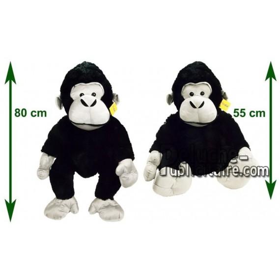 Achat peluche gorille noir 80cm. Peluche personnalisée.