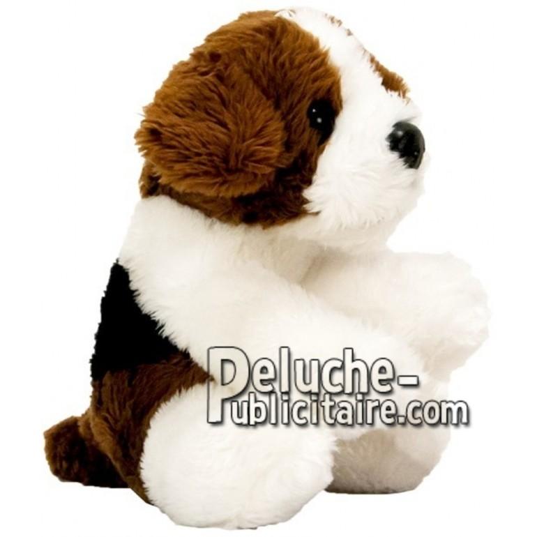 Achat peluche chien beagle marron 10cm. Peluche personnalisée.