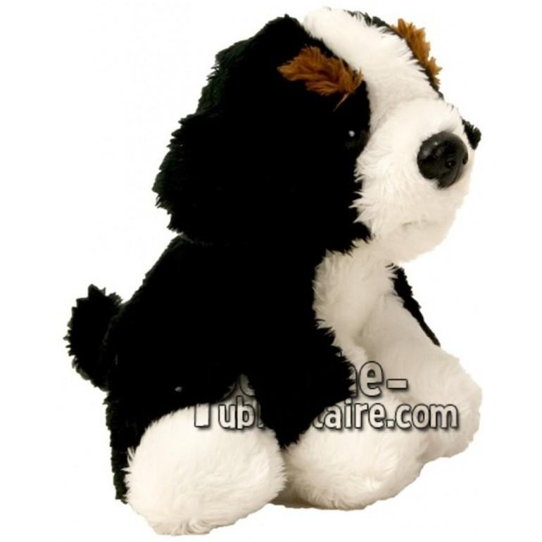 Achat peluche chien bouvier bernois noir 10cm. Peluche personnalisée.
