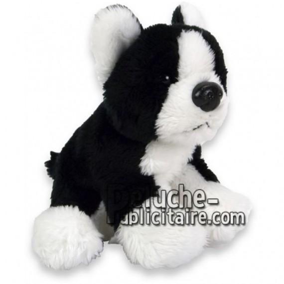 Achat peluche chien boston terrier noir 10cm. Peluche personnalisée.