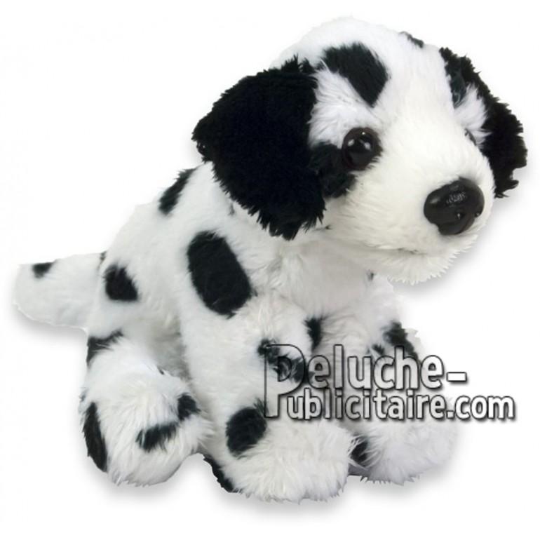 Achat peluche chien dalmatien noir 10cm. Peluche personnalisée.