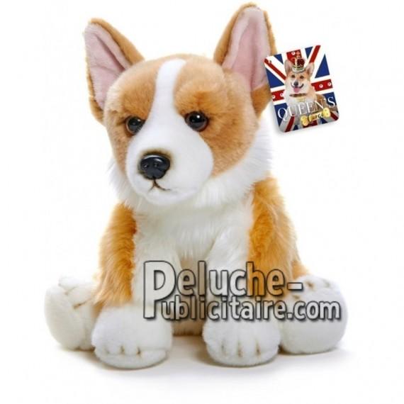 Achat peluche chien corgi marron 30cm. Peluche personnalisée.