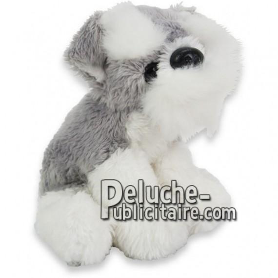 Achat peluche chien schnauzer gris 10cm. Peluche personnalisée.