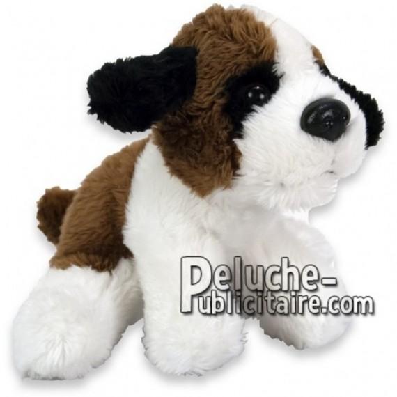 Achat peluche chien saint bernard marron 10cm. Peluche personnalisée.