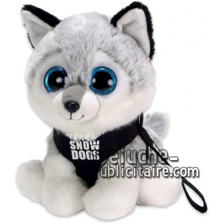 Achat peluche husky gris 20cm. Peluche personnalisée.