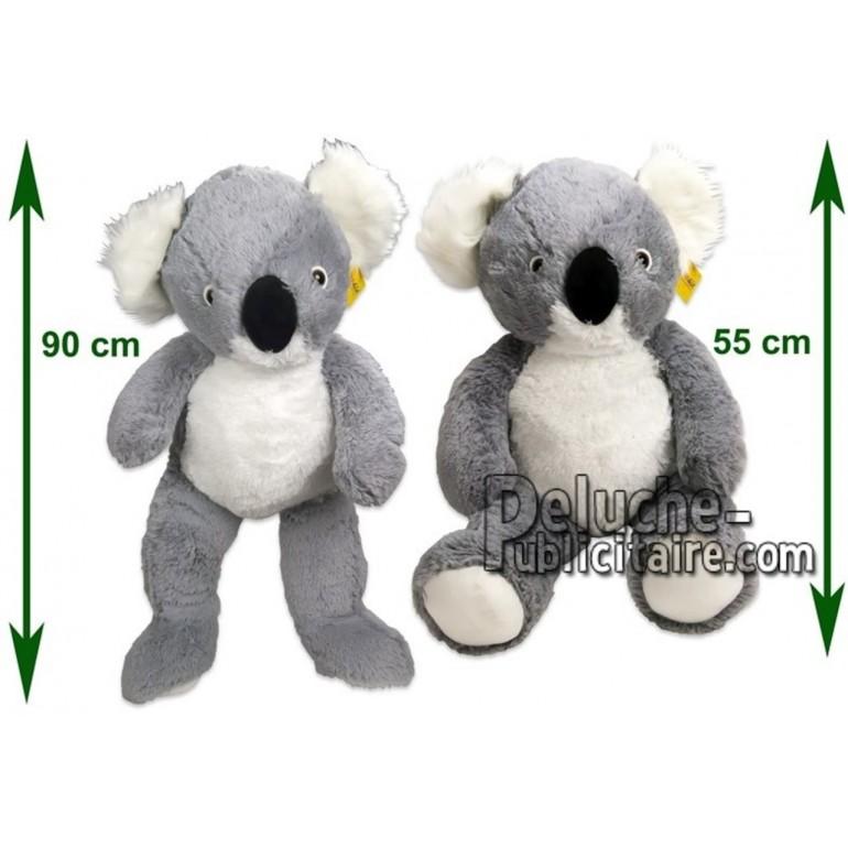Achat peluche koala gris 90cm. Peluche personnalisée.