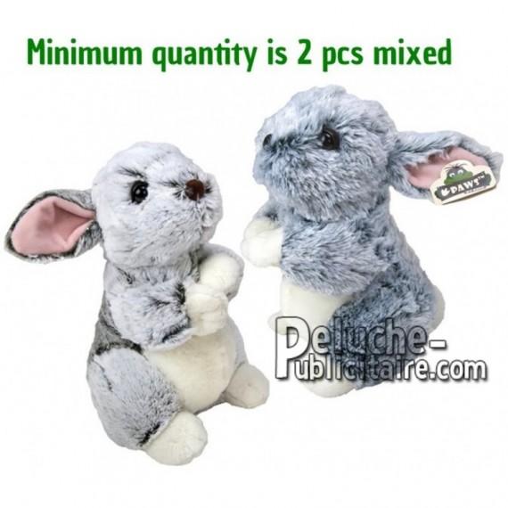 Achat peluche lapin blanc 34cm. Peluche personnalisée.