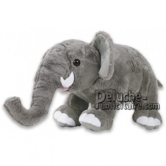Achat peluche éléphant gris 22cm. Peluche personnalisée.