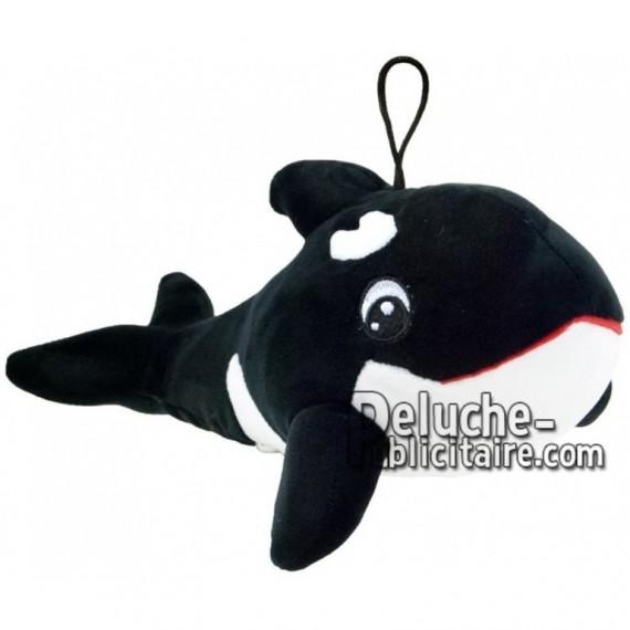 Achat peluche orque noir 28cm. Peluche personnalisée.