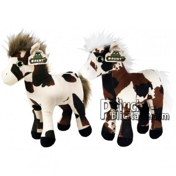 Achat peluche cheval multicolore 21cm. Peluche personnalisée.
