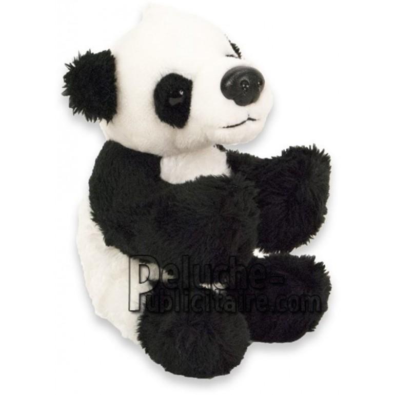Achat peluche panda noir 10cm. Peluche personnalisée.