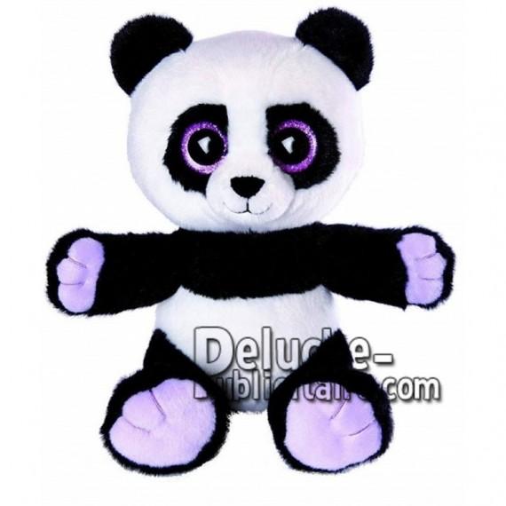 Achat peluche panda noir 20cm. Peluche personnalisée.