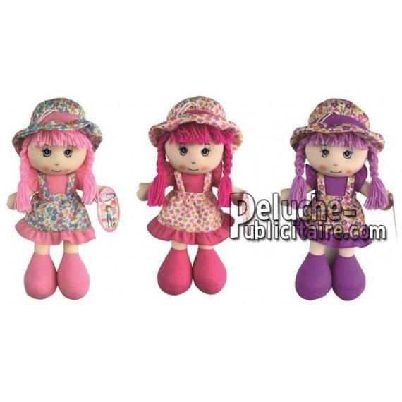 Achat peluche poupées multicolore 35cm. Peluche personnalisée.