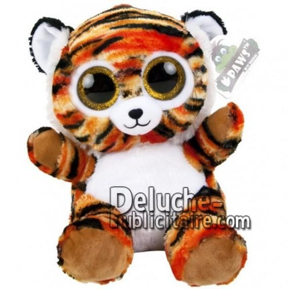 Achat peluche tigre noir 20cm. Peluche personnalisée.